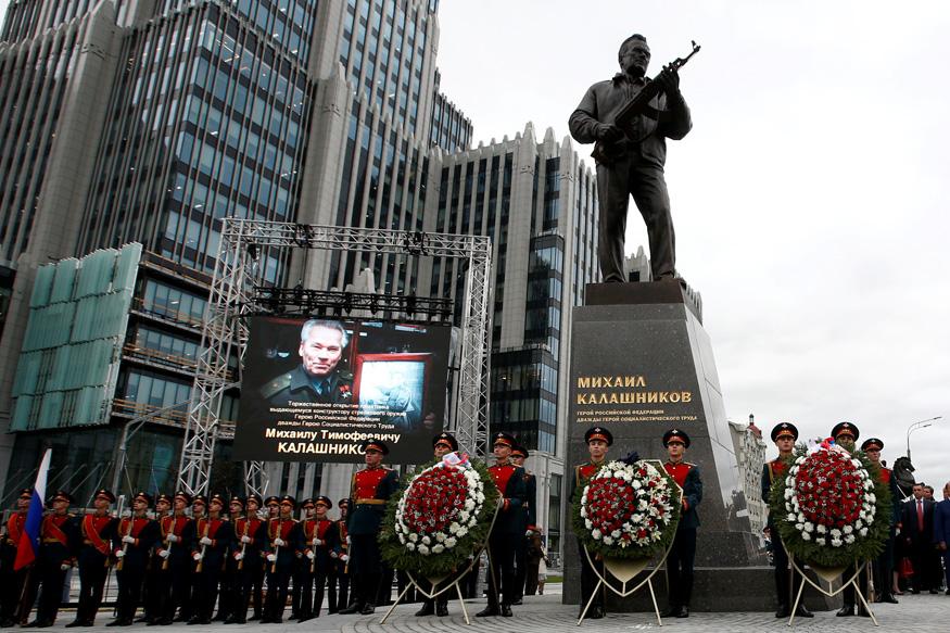 19.09.2017 Церемония открытия памятника М.Т. Калашникову в Москве