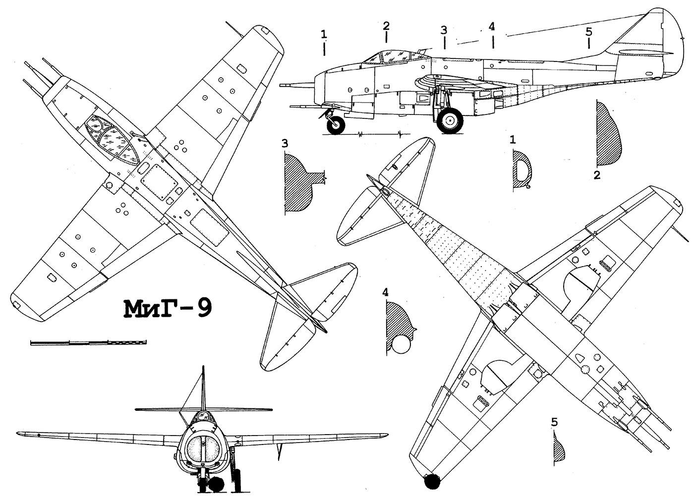 24.04.2017 Создание первых советских турбореактивных истребителей: МиГ-9 и Як-154