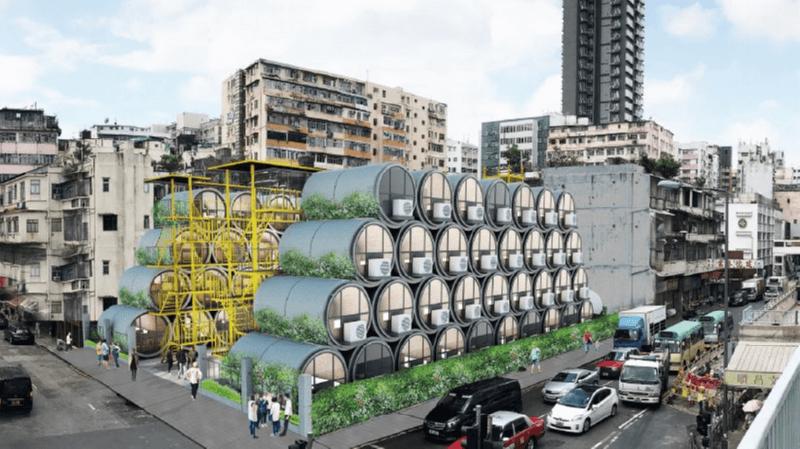 12.03.2018 Гонконгская компания представила проект бюджетного жилья – апартаменты, расположенные в бетонных трубах